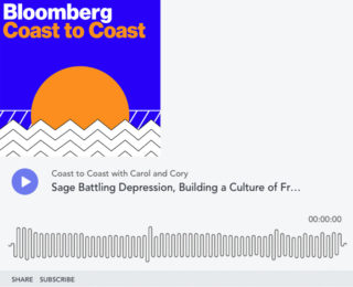 Bloomberg Markets: Sage Battling Depression, Powerful Culture